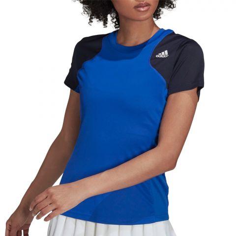 Adidas-Club-3-Stripes-T-Shirt-Dames-2109091344