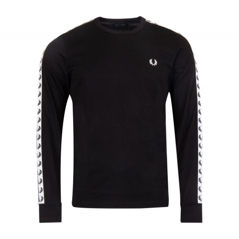 Fred-Perry-Taped-Longsleeve-Shirt-Heren
