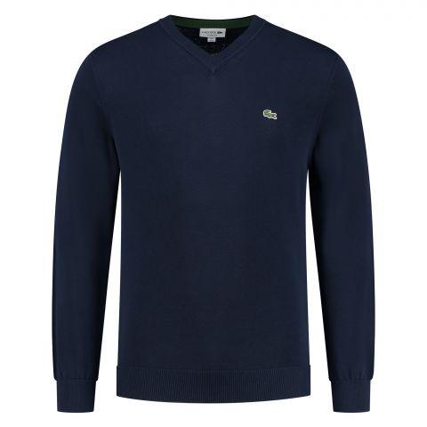 Lacoste-Cotton-V-neck-Sweater-Heren-2110131330