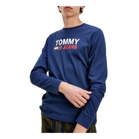 Tommy-Hilfiger-Corp-Logo-LS-Shirt-Heren