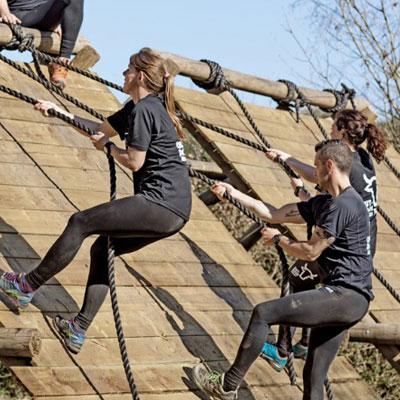 De obstakels voor de obstacle run